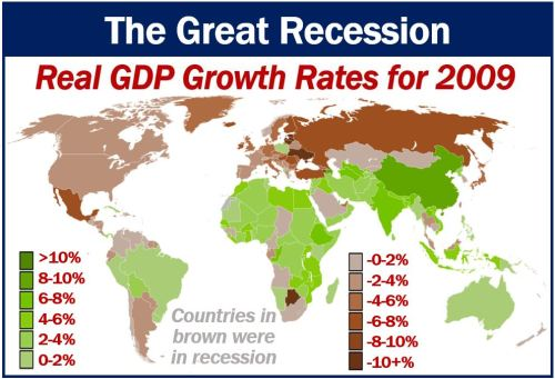The Great Recession - GDP growth rates in 2009