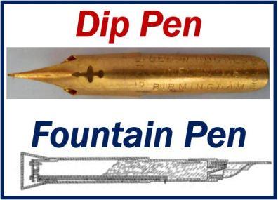 Dip pen and fountain pen