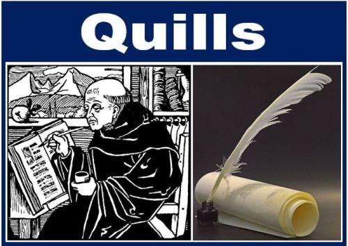 How people write - history - quills