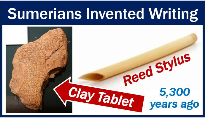 How people write – reed stylus and clay tablet