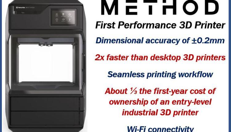 Method – First Performance 3D Printer