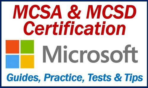 Microsoft MCSA and MCSD certification image