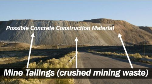 Mine tailings - crushed mining waste