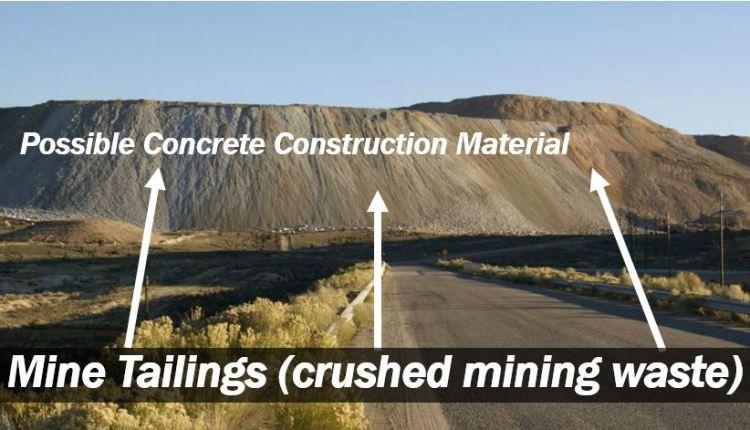 Mine tailings – crushed mining waste