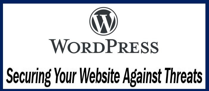 Securing WordPress website against online threats