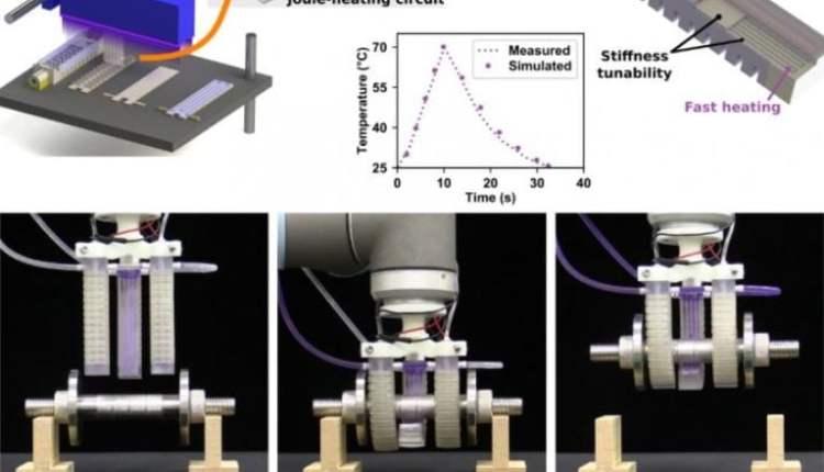 Fast-Response, Stiffness-Tunable soft actuator