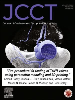 JCCT Cover - article on heart valves and 3D printing