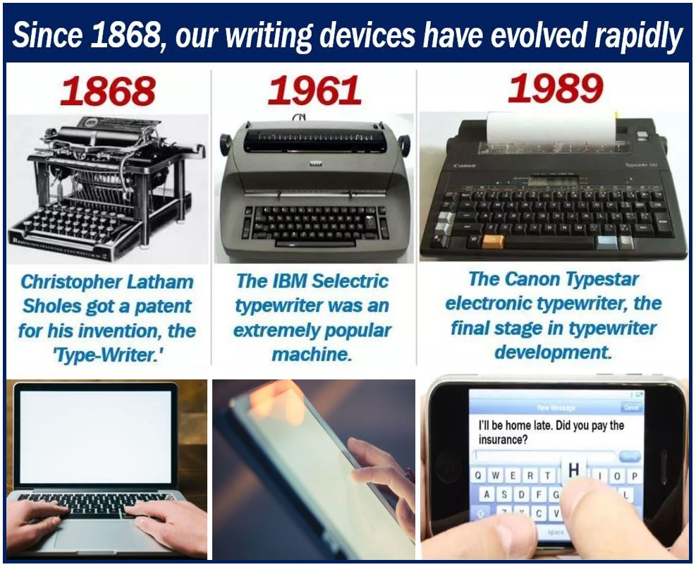 Evolution of our writing devices