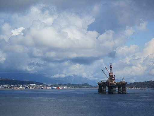 Oil rig near Stavanger, Norway