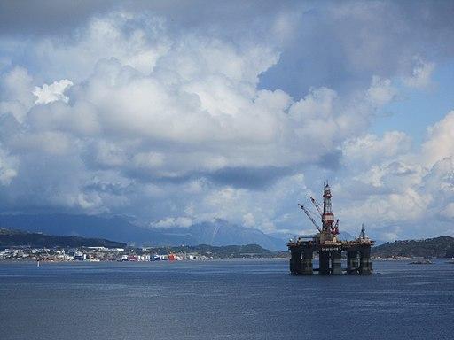 Oil rig near Stavanger, Norway