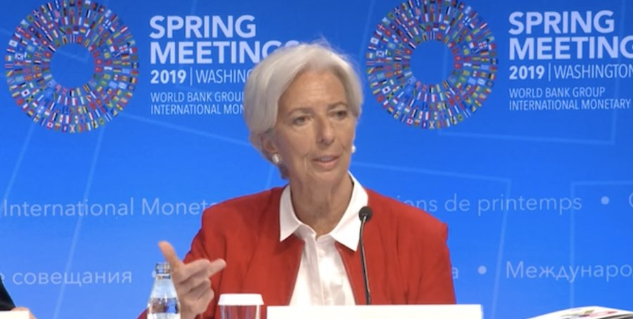 IMF head Christine Lagarde said Brexit extension helped avoid a