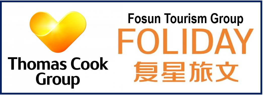 Fosun Holiday Group and Thomas Cook Group logos 8893893893