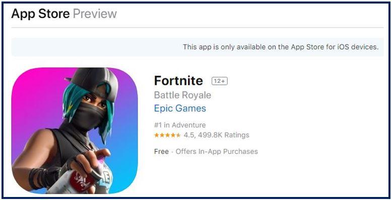 Fortnite iPhone games image