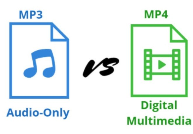 What's the difference between mp3 and mp4? mp3 vs mp4