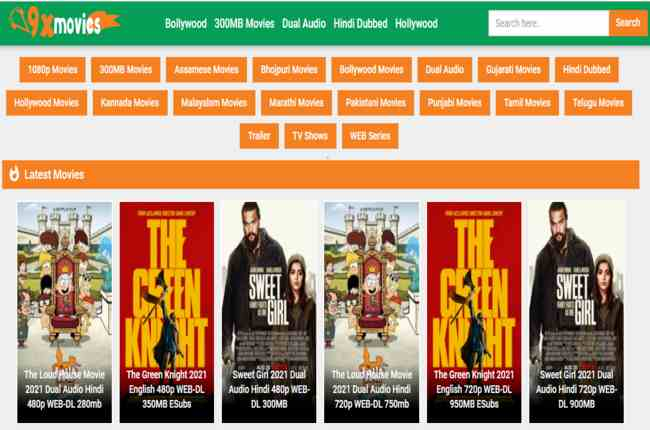 9xmovies 2021 – Famous torrent for downloading movies