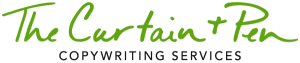 curtain and pen logo