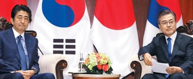 สงครามการค้า Shinzo Abe Moon jae-in