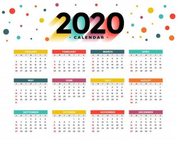 Calendar 2020 Event