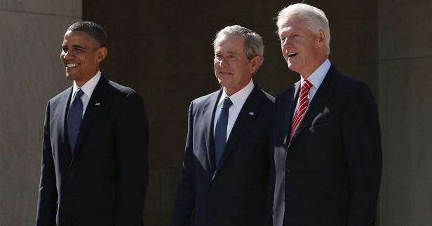 Bush Obama Clinton Biden
