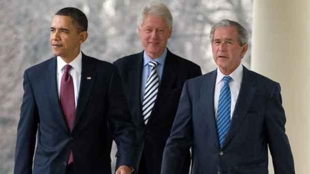 Obama Clinton Bush ถอด Trump
