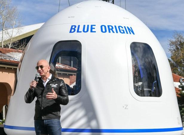 Jeff Bezos blue