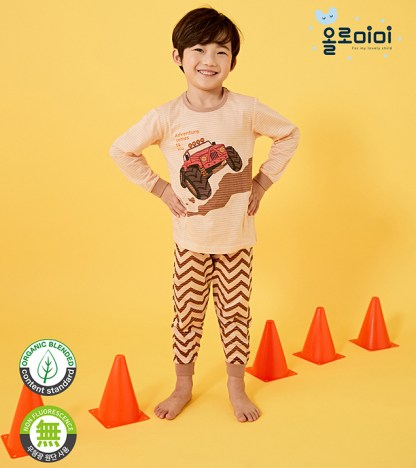 Olomimi Adventure Truck Kid Pyjamas Set