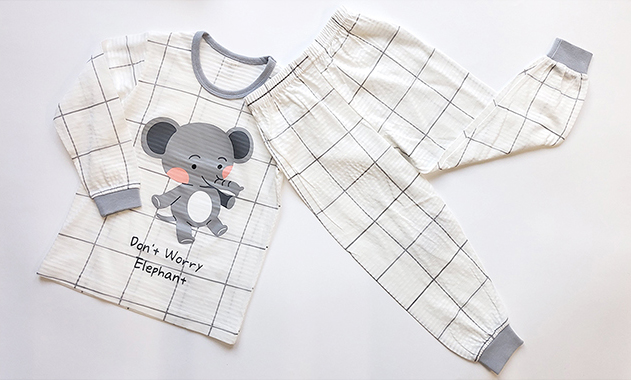 Olomimi My Elephant Kid Pyjamas Set Product Showing