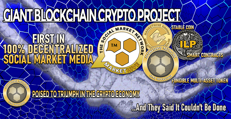 GIANT BLOCKCHAIN CRYPTO PROJECT - FIRST IN 100 DECENTRALIZED SOCIAL MARKET MEDIA 1