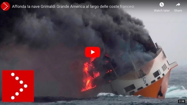 Grimaldi Grande America sinks the ship off the French coast