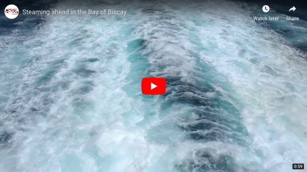 Steaming ahead in the Bay of Biscay