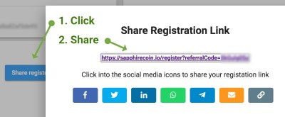 How to share registration link