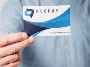 Diseño de tarjeta de visita 1 cara
