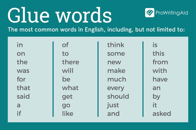 glue words