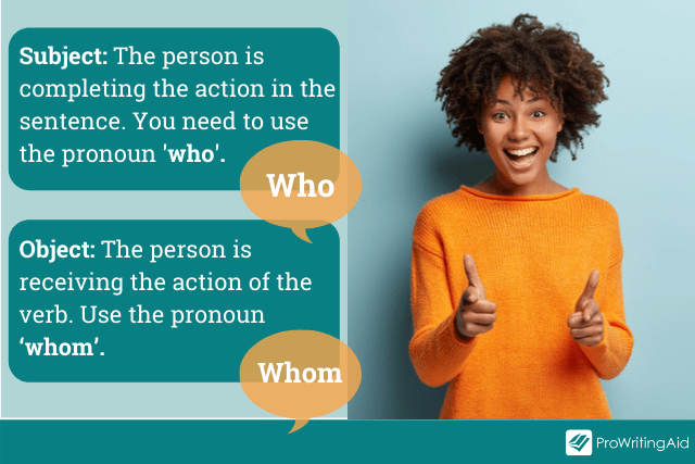subject vs object: when to use who and whom
