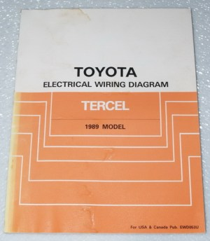 1989 TOYOTA TERCEL Electrical Wiring Diagrams Shop Manual