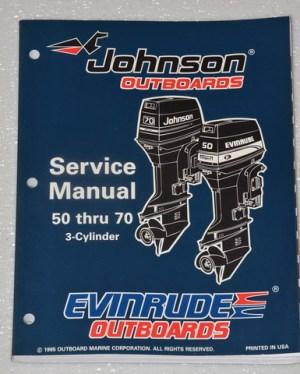 1996 JOHNSON 50 60 65 70 hp 3 CYLINDER OUTBOARD 50hp 60hp 65hp Service Manual | eBay