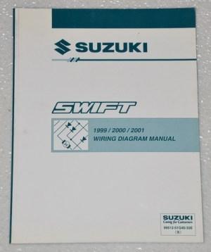 1999 2000 2001 SUZUKI SWIFT Factory Electrical Wiring