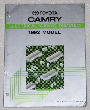 1992 TOYOTA CAMRY Electrical Wiring Diagrams Shop Manual