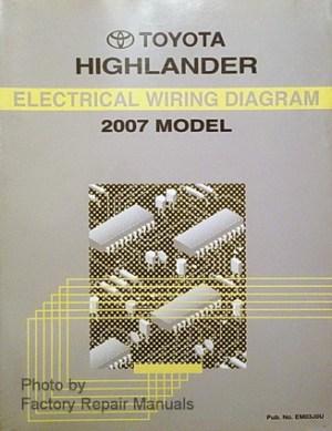 2007 Toyota Highlander Electrical Wiring Diagrams Original