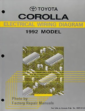 1992 Toyota Corolla Electrical Wiring Diagrams  Original