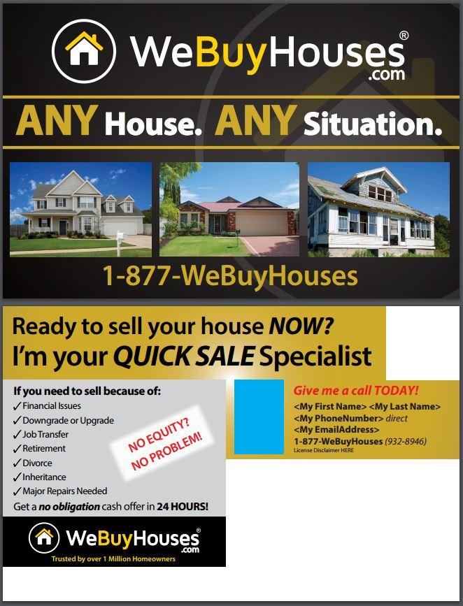 Any House Postcard Series We Buy Houses 174 Marketing Portal