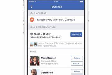 Town Hall de Facebook