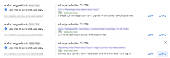 Auto Ad Suggestions