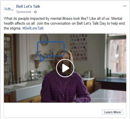 Bell Let's Talk ad - 5