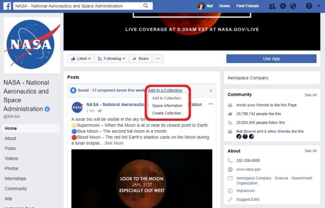 Facebook collection - new - to organize saved posts 2
