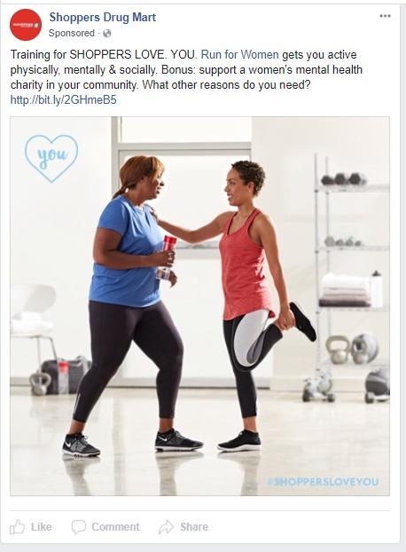 SDM RunForWomen FB ad