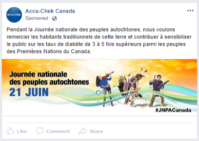 Accucheck - FB ad - indigenous day FR