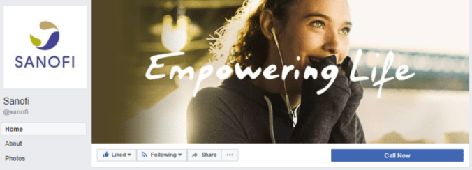 FB cover - Sanofi France - no posts