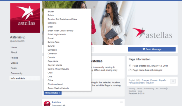 Astellas - FB - Changing Cancer Care Prize - FB ad list - world