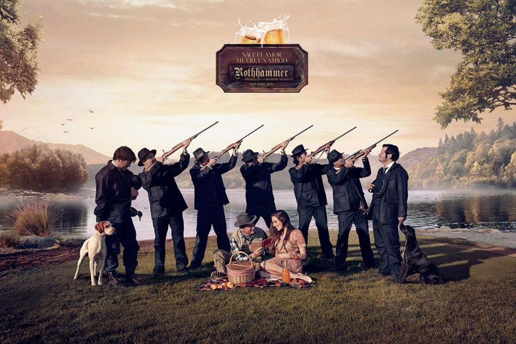 ORO Chile - Cazadores de patos (GR2), de Prolam Young & Rubicam para Cerveza Rothhammer